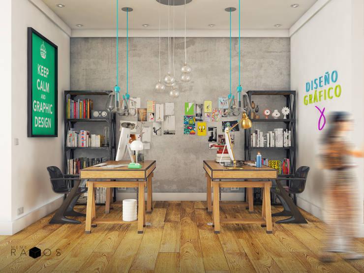 Vista oficina diseño grafico:  de estilo  por MRamos