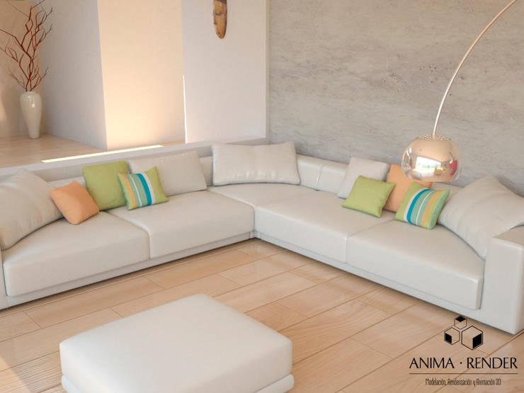 Render Interior 001: Hogar de estilo  por Anima Render