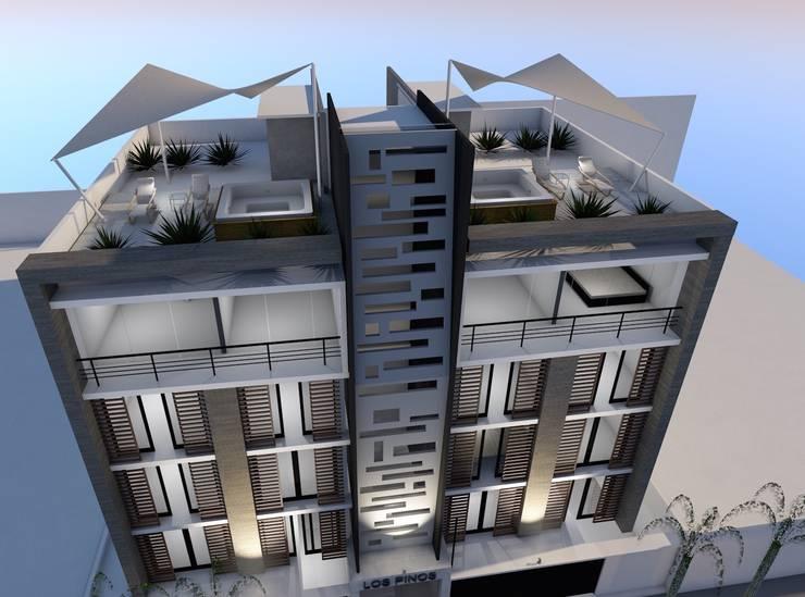 """Conjunto Habitacional """"Los Pinos"""": Casas de estilo  por Lima Arquitectos"""