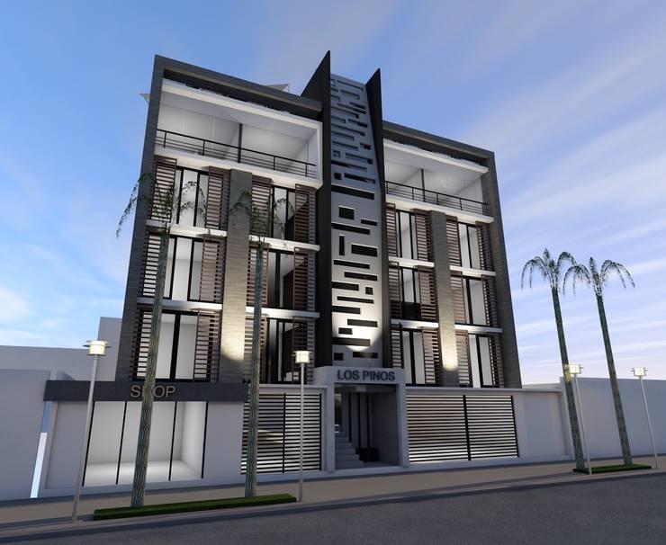 Conjunto Habitacional <q>Los Pinos</q>: Casas de estilo  por Lima Arquitectos