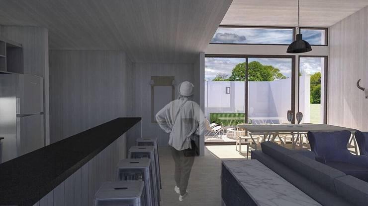 Casa BIG house modelo La Niña: Cocinas de estilo  por Inmobiliaria BIG house