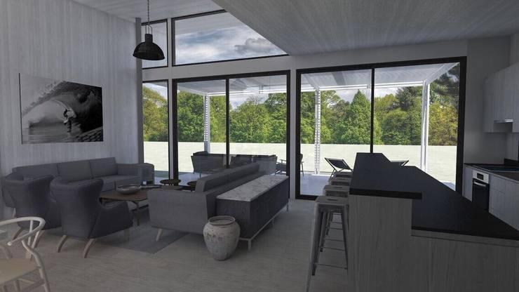 Casa BIG house modelo La Niña: Livings de estilo  por Inmobiliaria BIG house