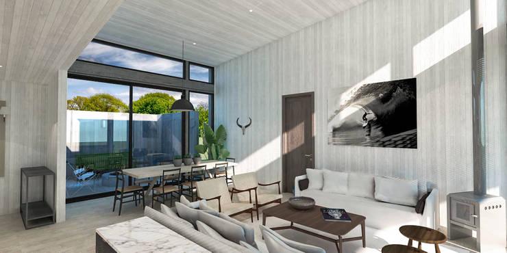 Casa BIG house modelo La Niña: Comedores de estilo  por Inmobiliaria BIG house