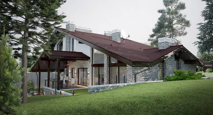 Шале в к.г.Канадской деревне:  в . Автор – Архитектурно-дизайнерская мастерская Бреуса Алексея