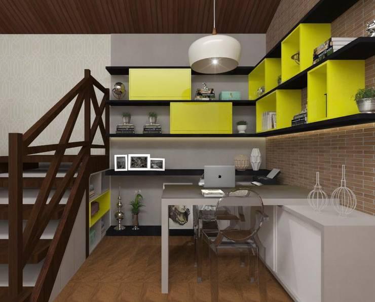 Home Office: Escritórios  por Vitral Studio Arquitetura