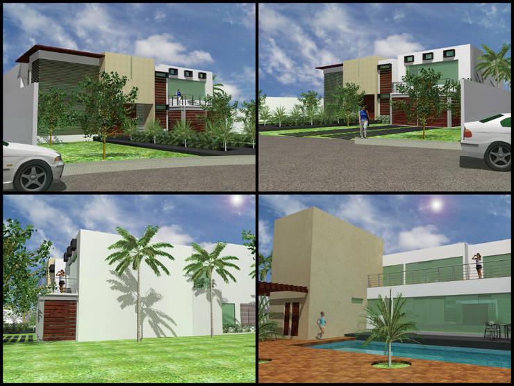 PRO-39: Casas de estilo  por APF arquitectos
