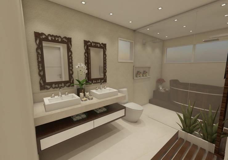 Bathroom by Vitral Studio Arquitetura