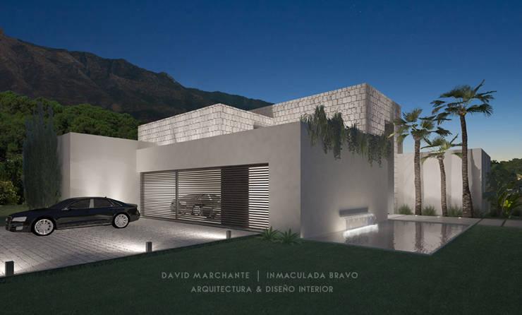 Garajes de estilo  por David Marchante  |  Inmaculada Bravo