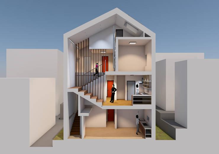 수원 단독주택: 건축그룹 [tam]의