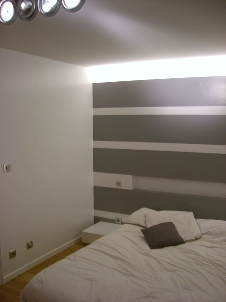 Mur à rayures: Murs de style  par Pierre Bernard Création,