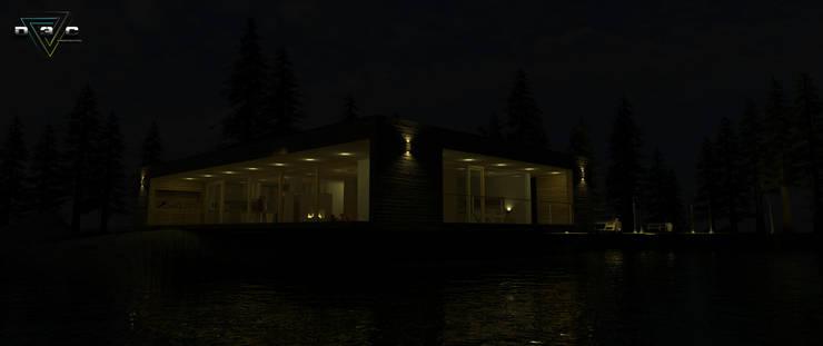 Visulaizacion 3d: Casas de estilo  por D3c Arquitectos