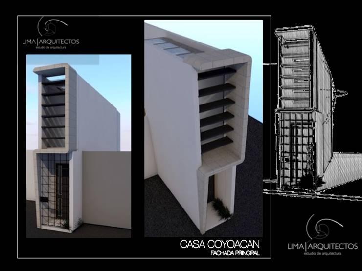 CASA COYOACAN: Casas de estilo  por Lima Arquitectos