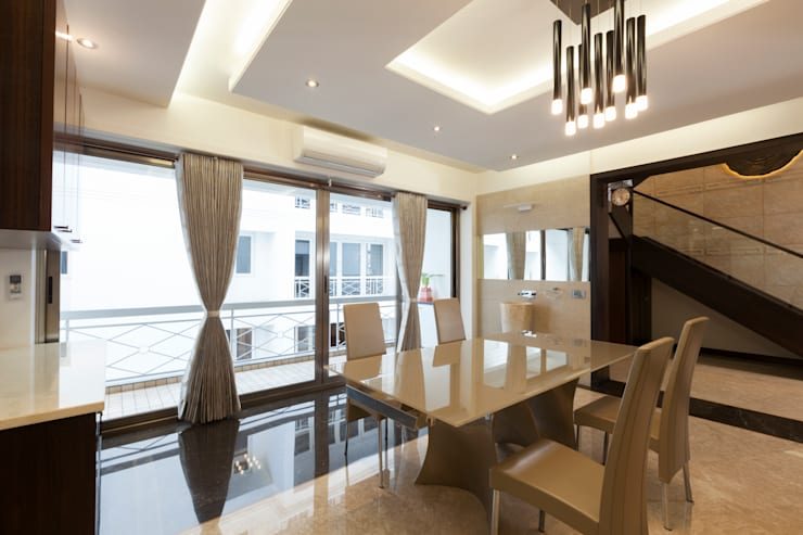 Flat @ Tirupur:  Dining room by Cubism