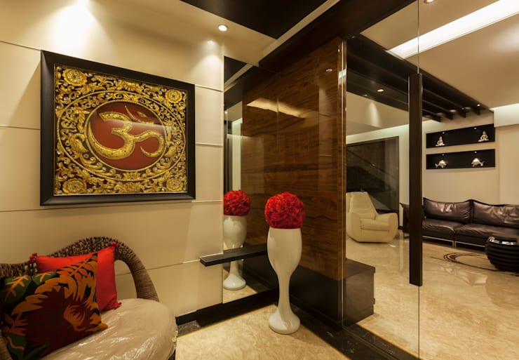 Flat @ Tirupur:  Living room by Cubism
