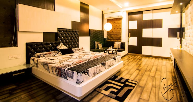 A Duplex Apartment, Raipur: modern Bedroom by ES Designs