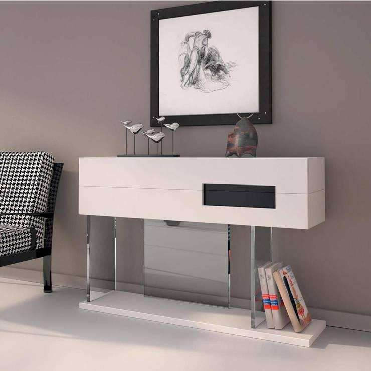 http://intense-mobiliario.com/pt/consolas-hall-entrada/3288-consola-alpha.html?search_query=alpha&results=1: Corredor, hall e escadas  por Intense mobiliário e interiores;