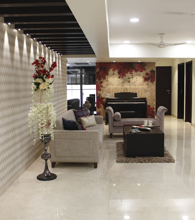 ..:  Living room by Neha Changwani,Modern