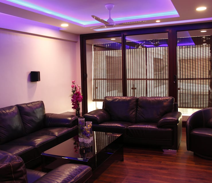 Serenity home!: modern Media room by Neha Changwani