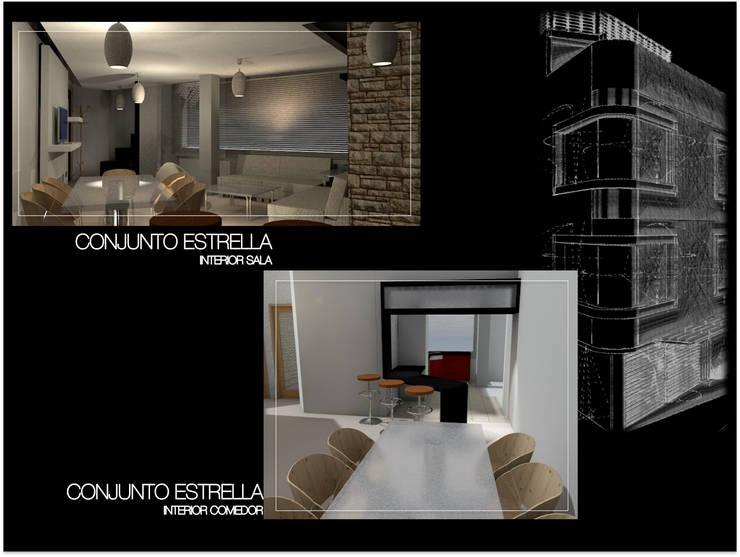 Conjunto Estrella CDMX: Cocinas de estilo  por Lima Arquitectos