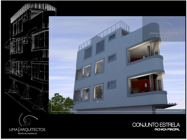 Conjunto Estrella CDMX: Casas de estilo  por Lima Arquitectos