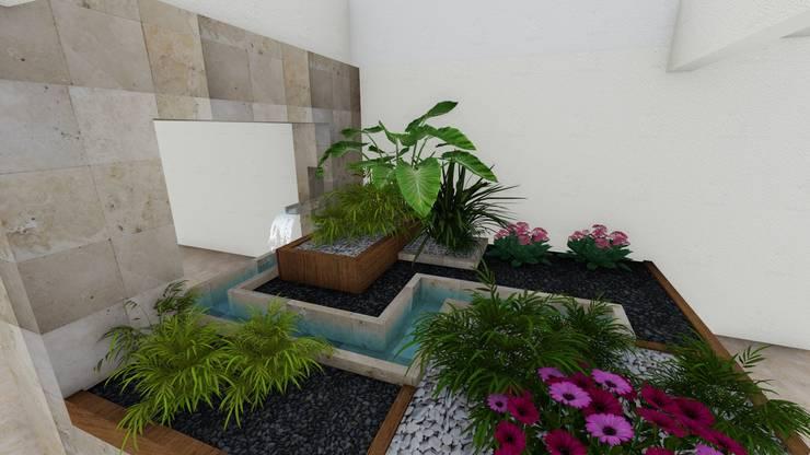 Jardines de estilo minimalista por A-labastrum   arquitectos