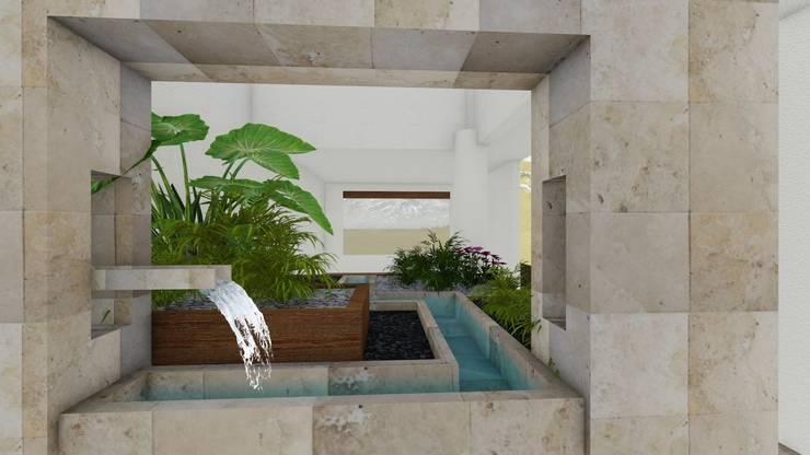 jardin interior: Jardines de estilo  por A-labastrum   arquitectos