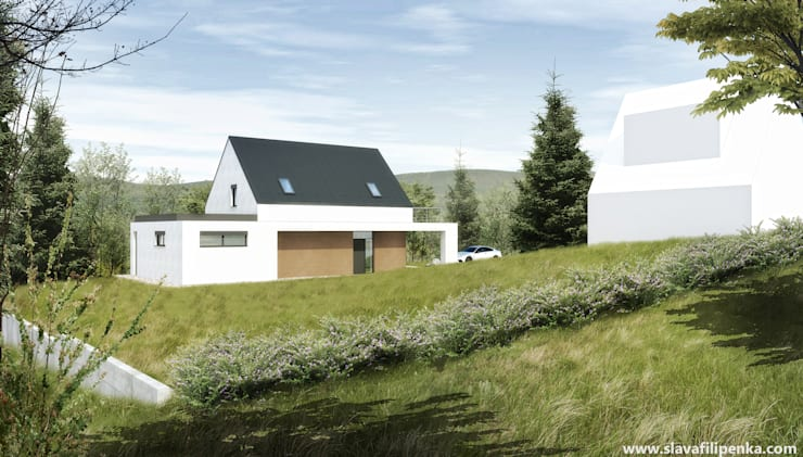 Проект дачи с сауной: Дома в . Автор – Slava Filipenka architect