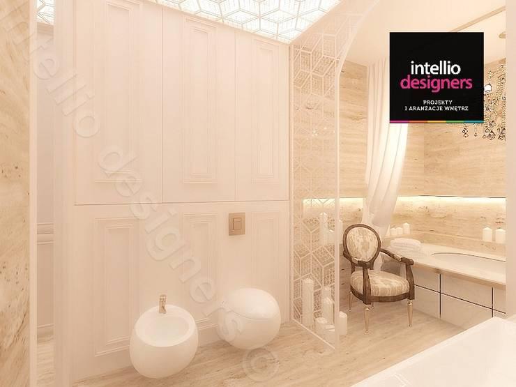 Jasna łazienka projekt: styl , w kategorii Łazienka zaprojektowany przez Intellio designers