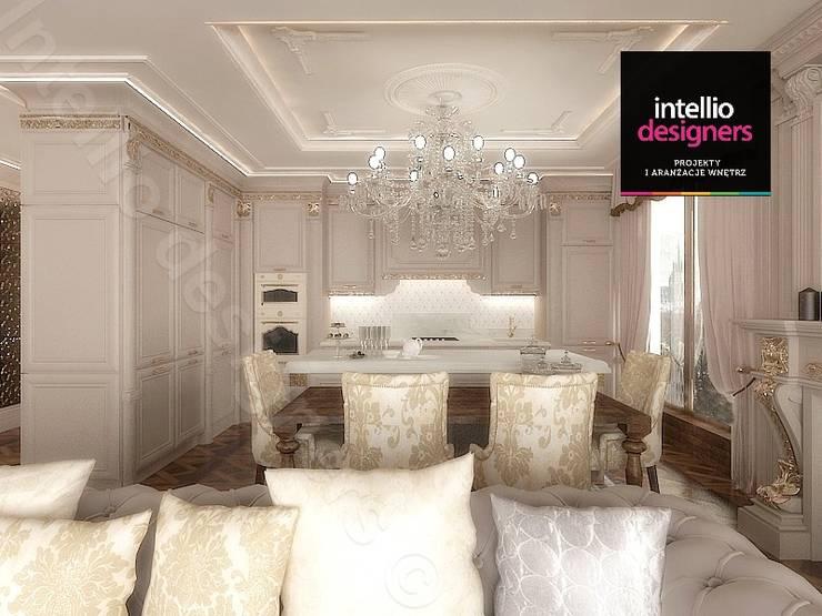 Projekt ultraluksusowego apartamentu w Krakowie: styl , w kategorii Kuchnia zaprojektowany przez Intellio designers