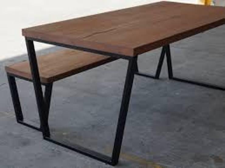 GNC Ahşap Tasarım Orman Ürn. Mimarlık ve Peyzaj San. Tic Ltd. Şti. – Doğal Ahşap Yemek Masası:  tarz Ev İçi