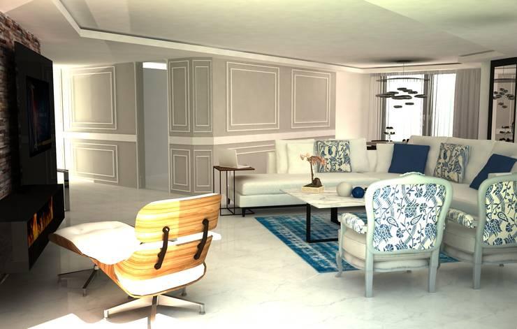 Sinem Oktay – APARTMENT:  tarz Oturma Odası, Modern