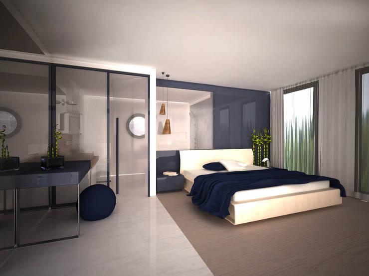 Sinem Oktay – APARTMENT:  tarz Yatak Odası, Modern