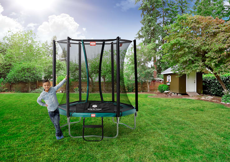 BERG Talent 180/240/300 + Safety Net Comfort:  Tuin door BERG Toys B.V., Landelijk Kunststof