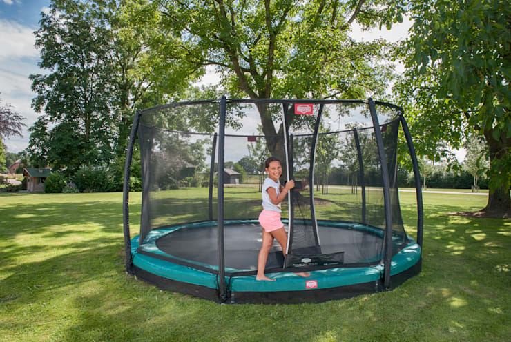 BERG InGround Champion 270/330/380/430 + Safety Net Comfort Country style garden by BERG Toys B.V. Country Plastic