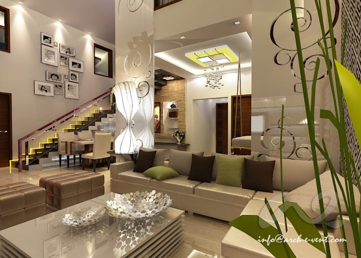 The Jeweler's Tiara :  Living room by Arch-e-Vent