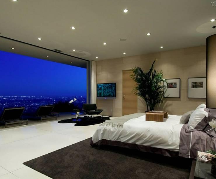 A janela como tela.: Quarto  por Obr&Lar - Remodelação de Interiores