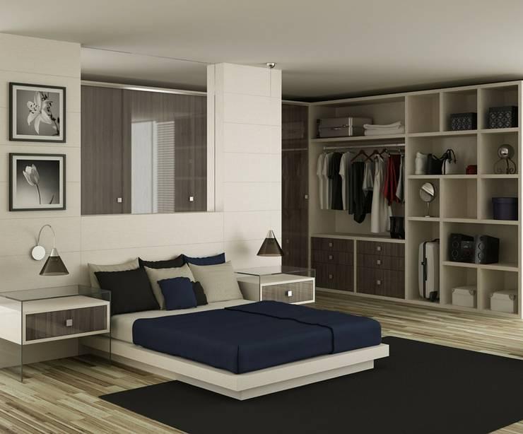 Ambiente sóbrio!: Quartos  por Obr&Lar - Remodelação de Interiores