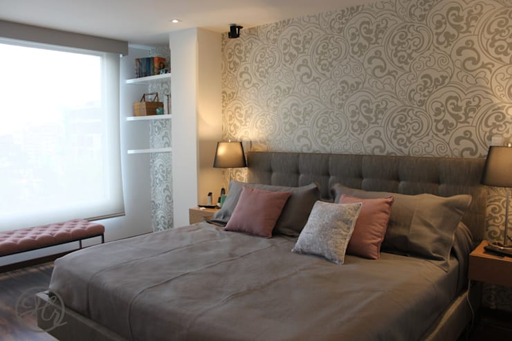 Habitacion Principal: Recámaras de estilo  por Home Reface - Diseño Interior CDMX