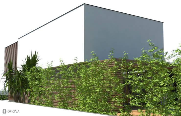 Casa Carvide: Casas  por OFICINA - COLECTIVO DE IDEIAS, LDA