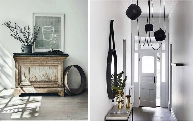 Il biglietto da visita della nostra casa: l'ingresso: Ingresso, Corridoio & Scale in stile in stile Scandinavo di Design for Love