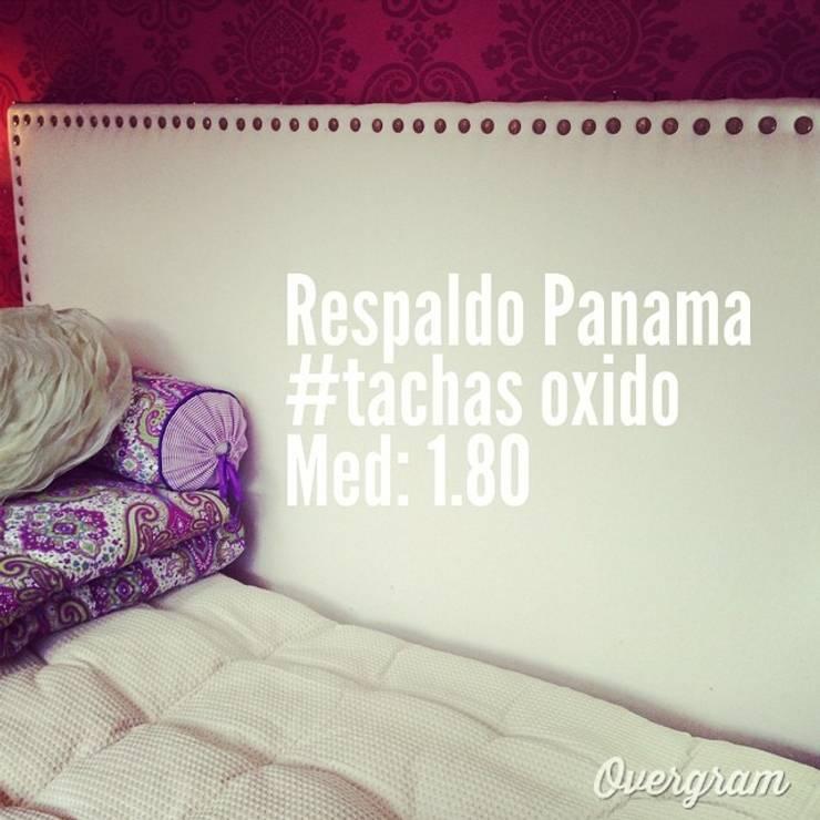 Respaldo de cama modelo Panama : Dormitorios de estilo  por El lanero del Sud