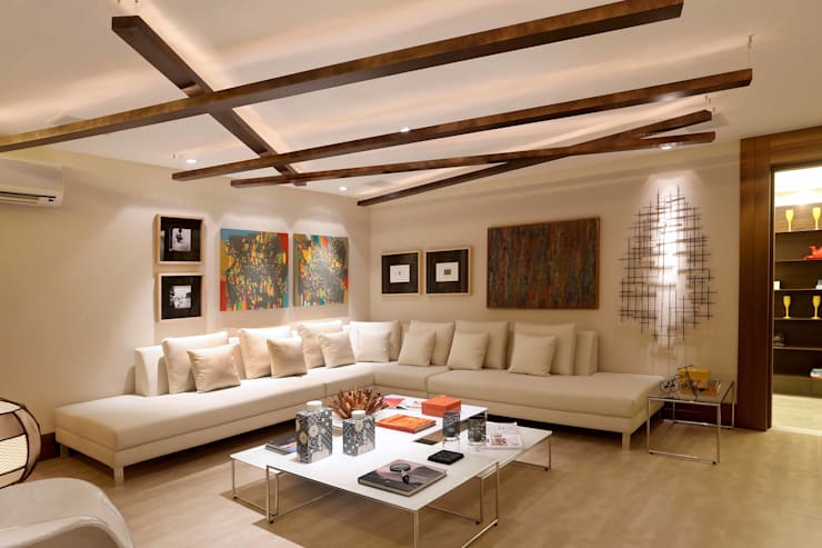 Moderne Wohnzimmer von Andréa Spelzon Interiores Modern