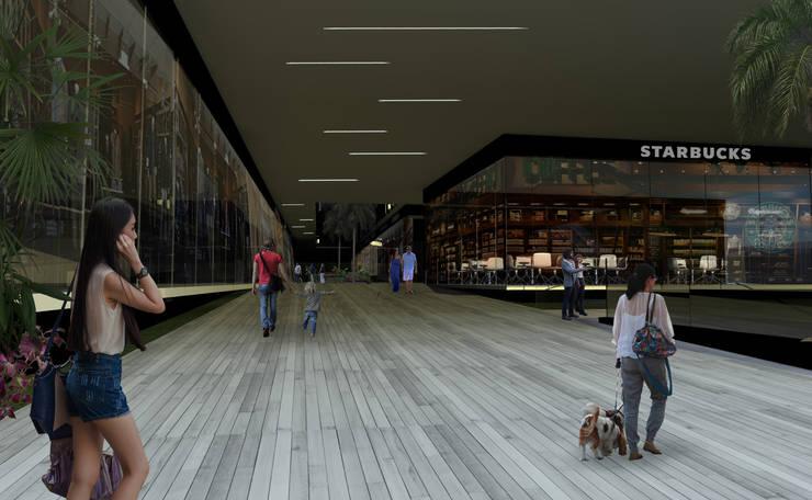 Centro Comercial en Cuernavaca : Centros Comerciales de estilo  por Arquitectos M253