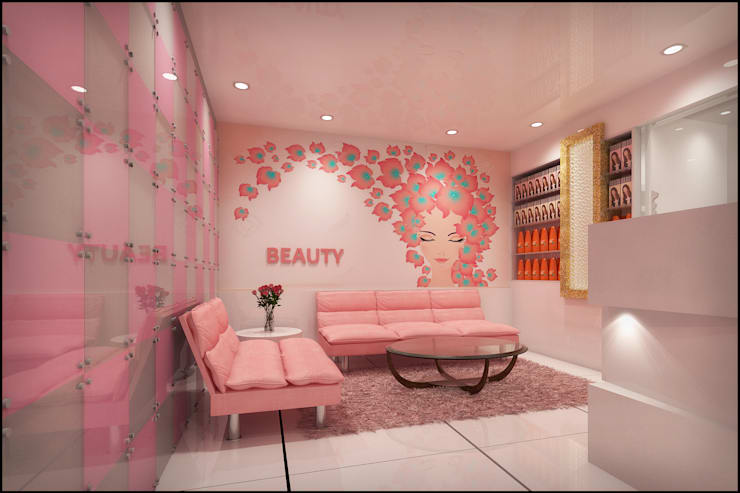 Beauty Parlour:  Living room by Pixel Works