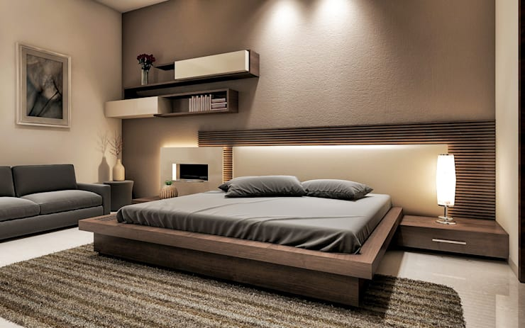bedroom design by square designs homify 16246 | 1 10
