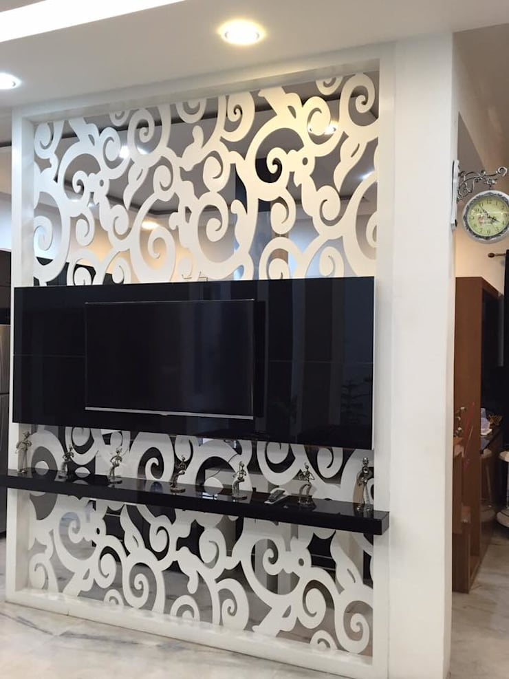 partitions design with Cnc cutting:  Walls by Square Designs,Modern