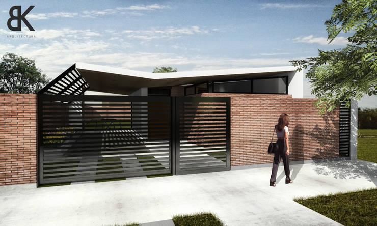Fachada - Etapa 1: Casas de estilo  por EKOPP obras & arquitectura,
