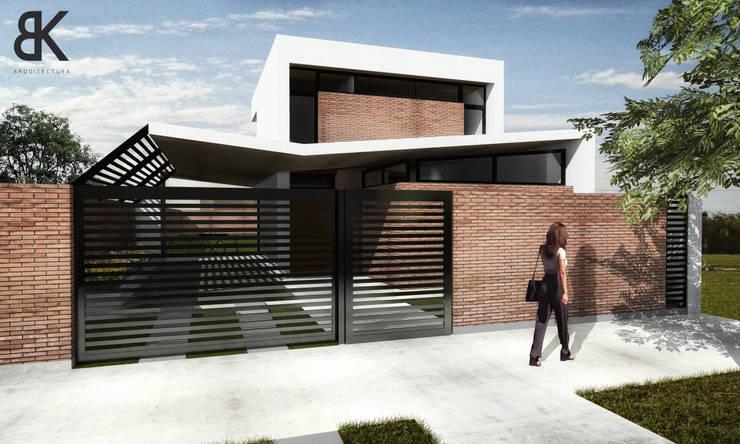 Fachada - Etapa 2: Casas de estilo  por EKOPP obras & arquitectura,