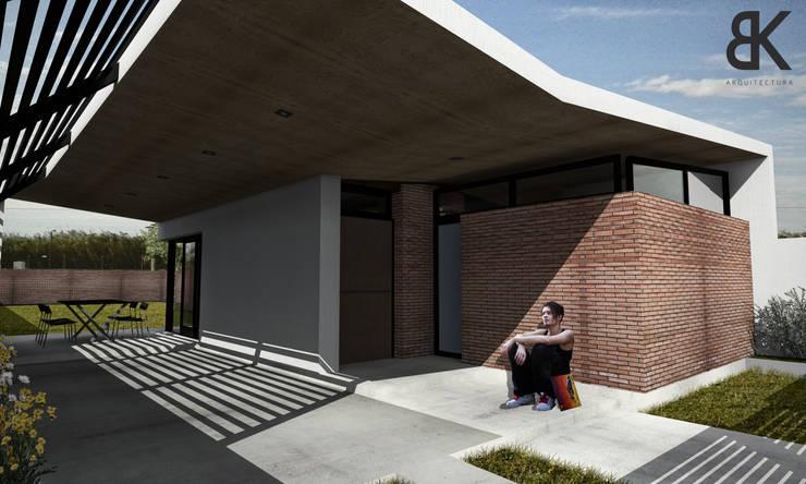 Ingreso y Cochera: Garajes de estilo  por EKOPP obras & arquitectura,