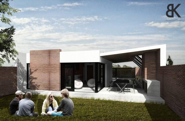 Patio - Etapa 1: Jardines de estilo  por EKOPP obras & arquitectura,